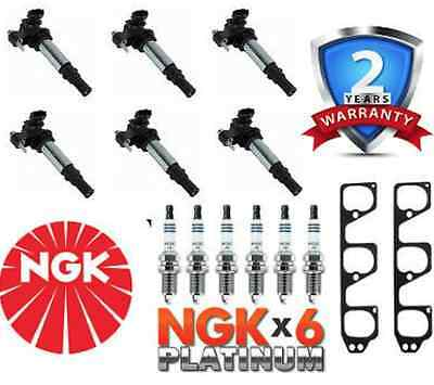 NGK Spark Plugs and Ignition Coil Pack KIT For Holden Commodore VE V6 LTR6AP-11