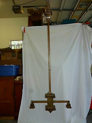 WOW! Extra Long Antique Mission/ Arts&Crafts Chandelier. Original 1920's