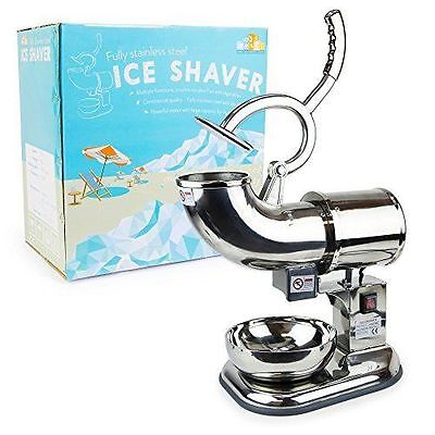WYZworks Commercial Heavy Duty 440lb/h Sno Snow Cone Ice Shaver Shaved Icee Make