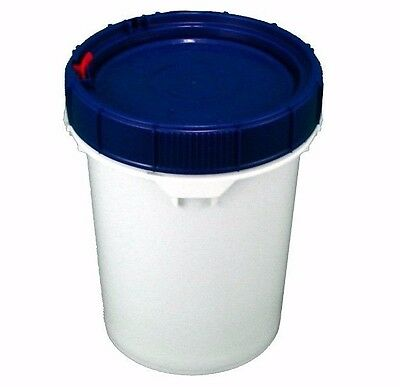Screw Top White Bucket with Lid