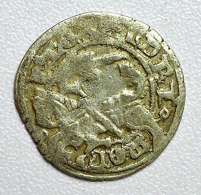 Lovely Medieval Hammered Silver Coin Depicting Knight On Horse And Eagle - Z46