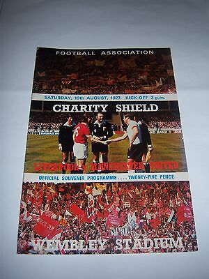 1977 CHARITY SHIELD - LIVERPOOL v MANCHESTER UNITED - FOOTBALL PROGRAMME
