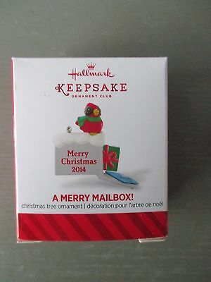 2014 Hallmark Keepsake Ornament Merry Mailbox Cardinal Post Office NEW IN BOX