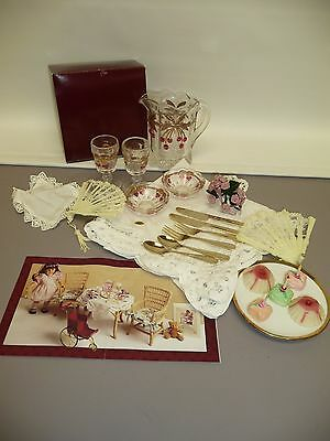 Pleasant Co. American Girl Samantha's Birthday Story Lemonade Set & Petit Fours