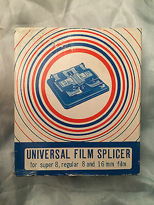 Universal Film Splicer for super 8, regular 8 and 16mm - New/Old Stock - Boxed