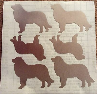 Leonberger silhouette pale gold vinyl stickers x 6