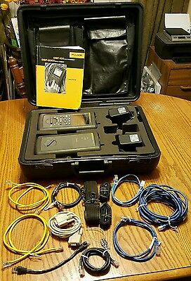 Fluke DSP-2000 Cable Analyzer DSP-2000SR Smart Remote w/Case & extra Cables!