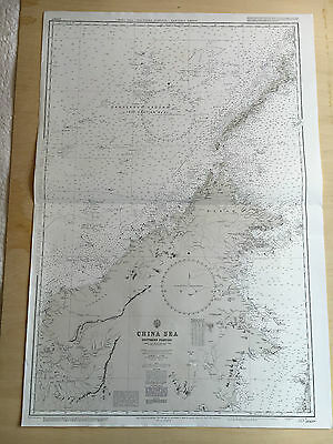 Large Admiralty Chart 2660B Office Map of China Sea Southern Portion Naval Map