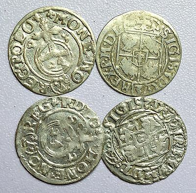 Stunning Lot Of 4 Medieval Silver Hammered Coins - Great Details - Z58