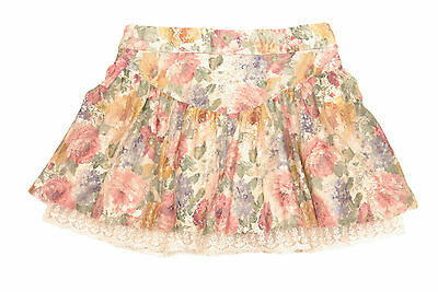 L082/16 Zara Girl's Floral Skirt with Lace , age 7-8 128 cm