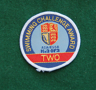 Swimming Challenge Award Two Patch/Cloth Badge - Vintage Sports - ASA/ESSA