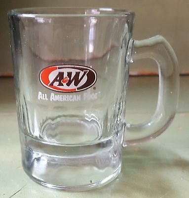"""A & W Baby Root Beer Glass 3"""" Tall - VINTAGE 1995 HOT ROD / CAR SHOWS"""