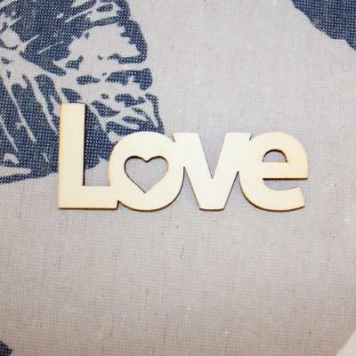 10pcs Love Words Letters Wooden Craft Scrapbooking Embellishments Accessory