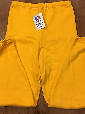 USA Vintage NOS RUSSELL ATHLETIC SWEATPANTS NWT Unisex YELLOW Size L