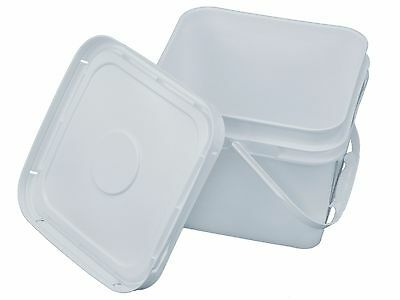 2 Gallon Square Bucket with Snap-on Lid (Food Grade)