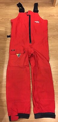 Musto Yachting HPX Ocean Trousers (Gore-Tex) Red Men's Large Used Braces