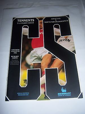 1991 FA CHARITY SHIELD - ARSENAL v TOTTENHAM HOTSPUR - FOOTBALL PROGRAMME