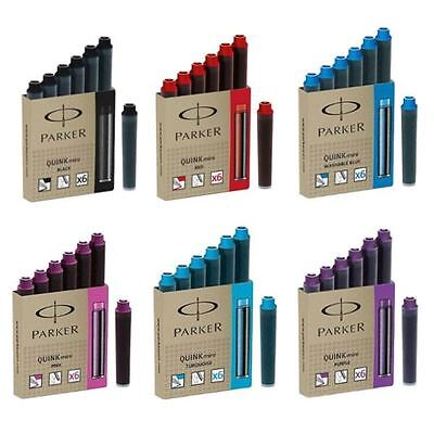 Parker MINI Short Quink Ink Cartridges for Fountain Pens - ALL Colours