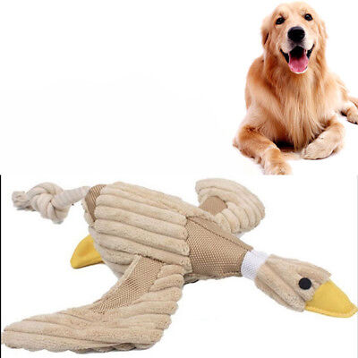 Pet Puppy Chew Teeth Squeaker Squeaky Plush Sound Duck For Dog Play Funny Toys