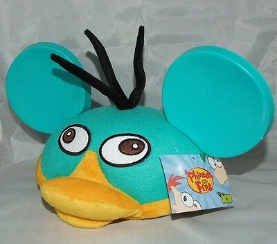 Phineas and Ferb Disney Parks Authentic Perry The Platypus Mickey Mouse Ear Hat