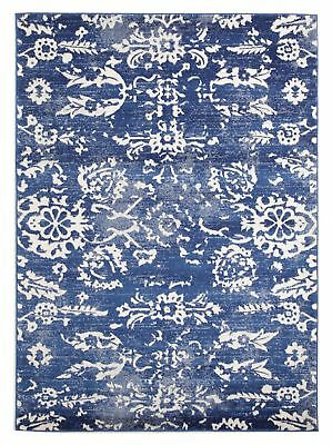 NEW Donna Navy Transitional Rug