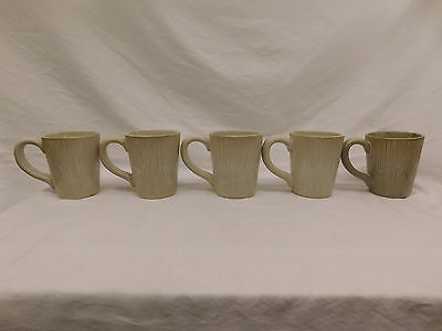 Colin Cowie Lotus Leaf Coffee Mugs China For Jc Penney Home Collection Set Of 5 & COLIN COWIE LOTUS Leaf Coffee Mugs China For Jc Penney Home ...