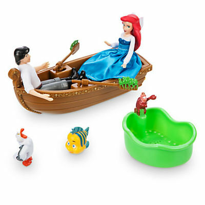 Disney The Little Mermaid 'Kiss The Girl' Water Bath Toy Set Ariel Eric Flounder