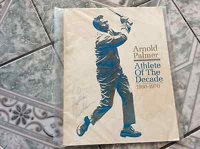 """ARNOLD PALMER AUTOGRAPHED """"ATHLETE of the DECADE""""1960-1970 PROGRAM"""