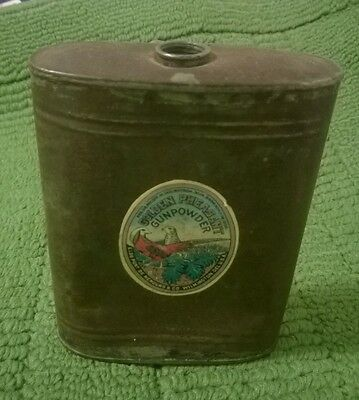 Original Dupont Gun Powder Can dated 1908 with colorful label intact.