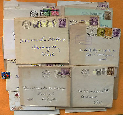 Lot of 40+ Vintage Cover with HOLIDAY Greeting Cards 1930's from Scrapbook