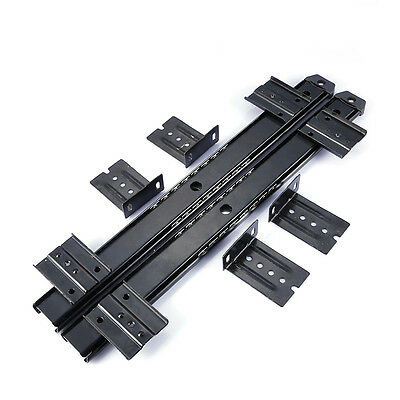 Furniture Drawer Slide Rail 350mm Computer Desk Keyboard Tray Slide Rail Track