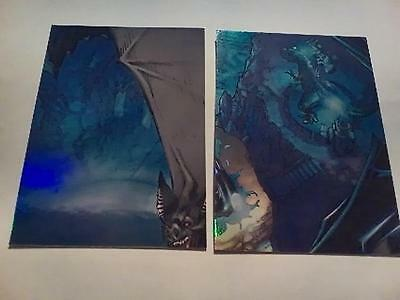 Dc Comics Batman The Legend Trading Cards The Batcave Chase Card Lot Of 2,insert