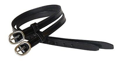 NEW AUSSIE SADDLERY Stitched Patent Leather Spur Straps