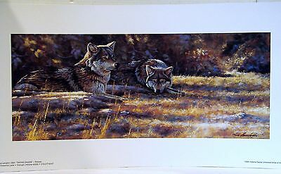 TAKING SHADE Wolf/Wolves Print S/N Ltd Ed Bruce Langton