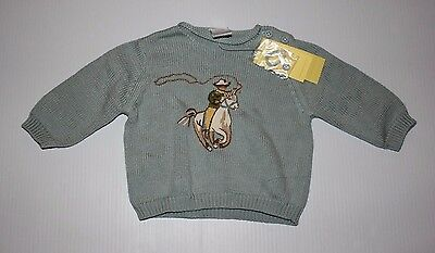 Gymboree NWT Infant boy Cowboy Knit Cotton pull Over Sweater 3-6 Months