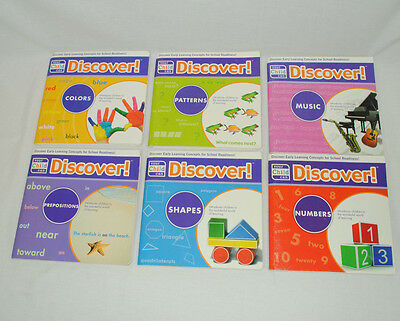 Set of 6 Your Child Can Discover Books Numbers Colors Shapes Early Education