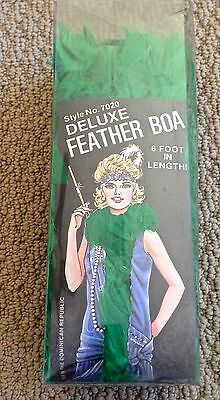 Rubie's 6 Foot Long Deluxe Green Feather Boa ~ Style No. 7020 ~