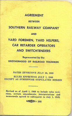 Book -- 1965 Agreement Between Southern Railway Company And Yard Foremen & ....