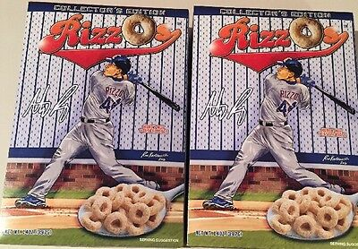 Anthony Rizzo Cereal, 2 Boxes Collectors Edition