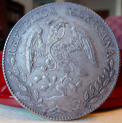 1896 Mexico 8 Reales Silver Coin, Zacatecas Mint, Exquisite Detail, KM# 377.13