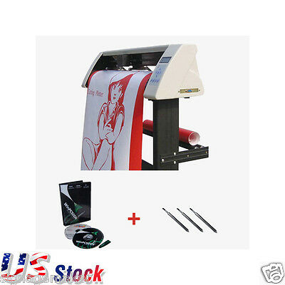 "24"" Redsail Sign Vinyl Cutter Plotter with Contour Cut Function+Stand+Software"