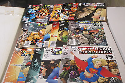 21 Supergirl and the Legion of Super-Heroes comic book lot Waid 16 to 36 Set NM