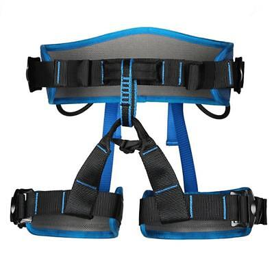 Pro Downhill Abseiling Rock Climbing Safety Harness Rappelling Gear Sit Belt