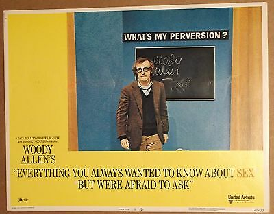 EVERYTHING/Wanted To KNOW ABOUT SEX Lobby Card~WOODY ALLEN~What's My Perversion