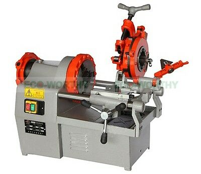 "New Electric Pipe Threader Machine (1/2""-3/4"" ,1""-2"") Threading Cutter 750W"