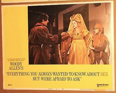EVERYTHING/Always Wanted To KNOW ABOUT SEX Lobby Card~WOODY ALLEN~Lynn Redgrave