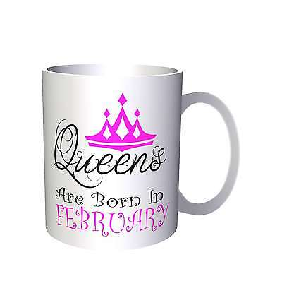 Queens are born in February Novelty Mug r17
