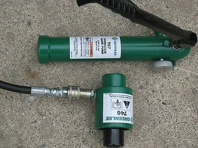 Greenlee hydraulic hand pump 767 and ram 746 extras