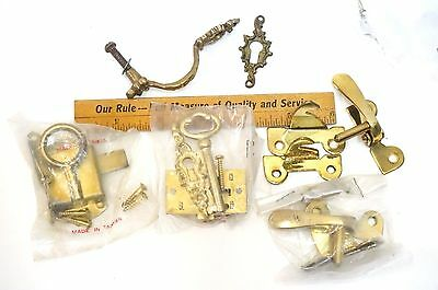 Latch Door Pie Safe Brass Hardware Key Keyhole Pull Misc Parts Possom Belly?