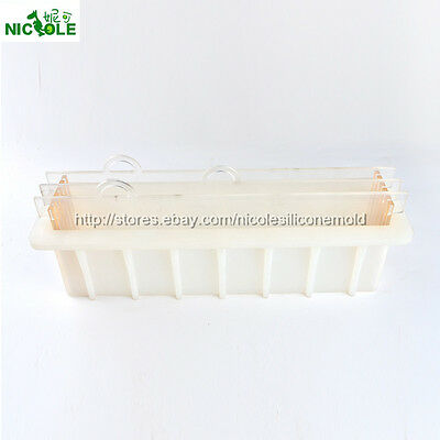 Vertical Loaf Soap Mold Silicone with Rendering Separator Cake Baking DIY Tools